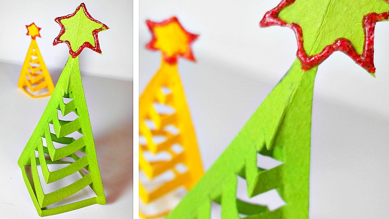 Easy homemade paper christmas decorations - Origami Christmas Tree Diy Paper Decor 3d Made Easy Tutorial For Kids Fir Tree Origami Instructions Youtube