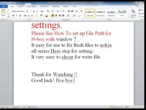 ufs3 flash file path settings | How to Set File Path for N-Box , or UFS 3 With Window7