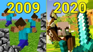 Evolution of Minecraft Java Edition 2009-2020