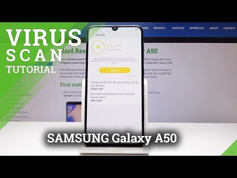 How To Scan Virus In SAMSUNG Galaxy A50 - Security Scan / Anti-Virus