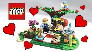 LEGO Romantic Valentine's Day Picnic review! 2017 set 40236!