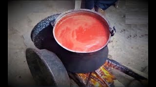 Updated! How To Make Tomato Juice The Traditional Greek Way! (ENG SUBS)