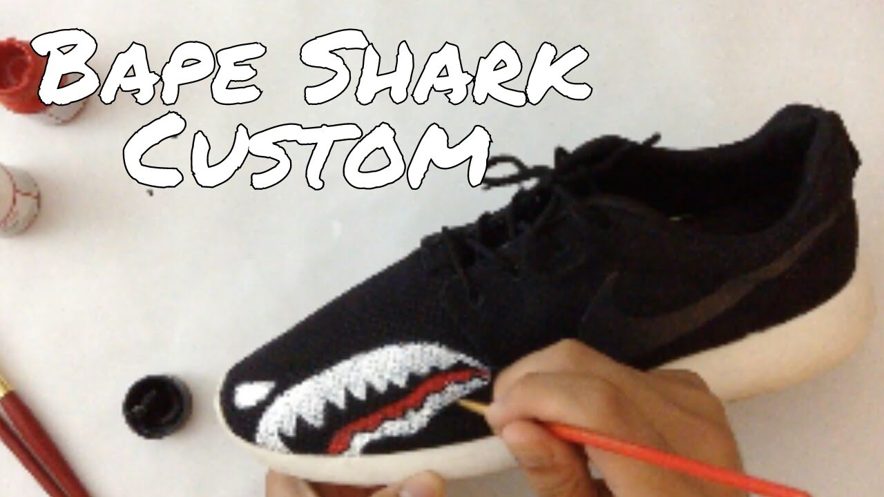 2a7a633f1eaba where can i buy roshe run custom bape shark diy reupload youtube 83f9e 2a8e1