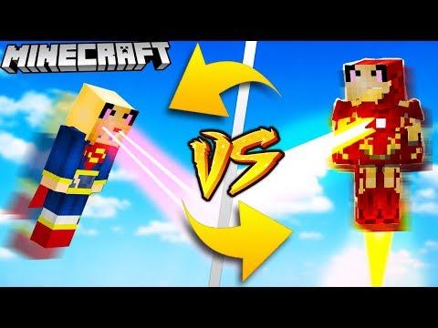 IRONMAN VS SUPERMAN - MINECRAFT | Vito VS Bella