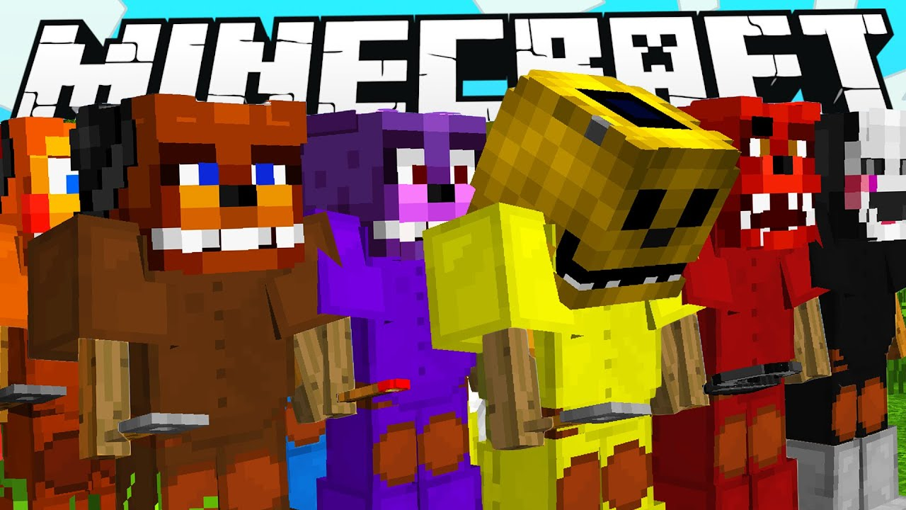 Minecraft how to get all fnaf characters amp animatronics youtube