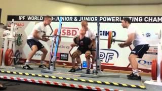 Тэйлор ЛаШапель - присед 160 кг (46,3 кг) мировой рекорд