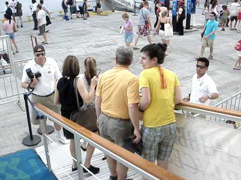 cruise ship gangway photographers youtube