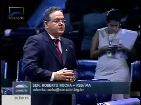 Roberto Rocha fala sobre a posse de Deoclides Macedo (26/02/2015)