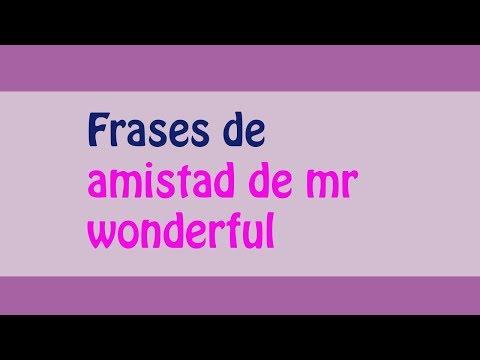 Las Mejores Frases De Mr Wonderful Amistad Frases De