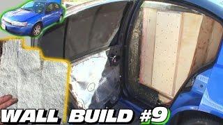EXO's Subwoofer WALL Build #9 | How To Seal OFF B-Pillars & Make Trim Panels w/ Fiberglass Mat