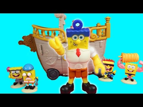 Imaginext Spongebob Out of Water Krabby Patty Food Truck & Hall of Fame Figurine Set