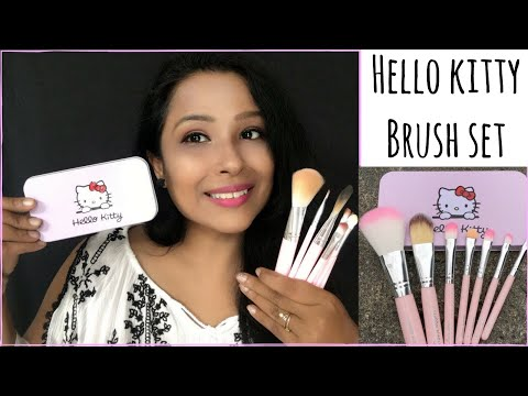 How to use Makeup Brushes for beginners | Hello kitty Brushes