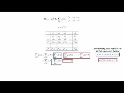 6 4 The Mobius Inversion Formula