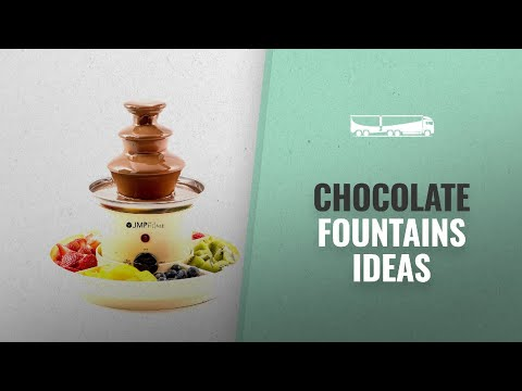 Chocolate Fountains - Halloween Fun Cooking Ideas: The Home Chocolate Fountain With Serving Trays -