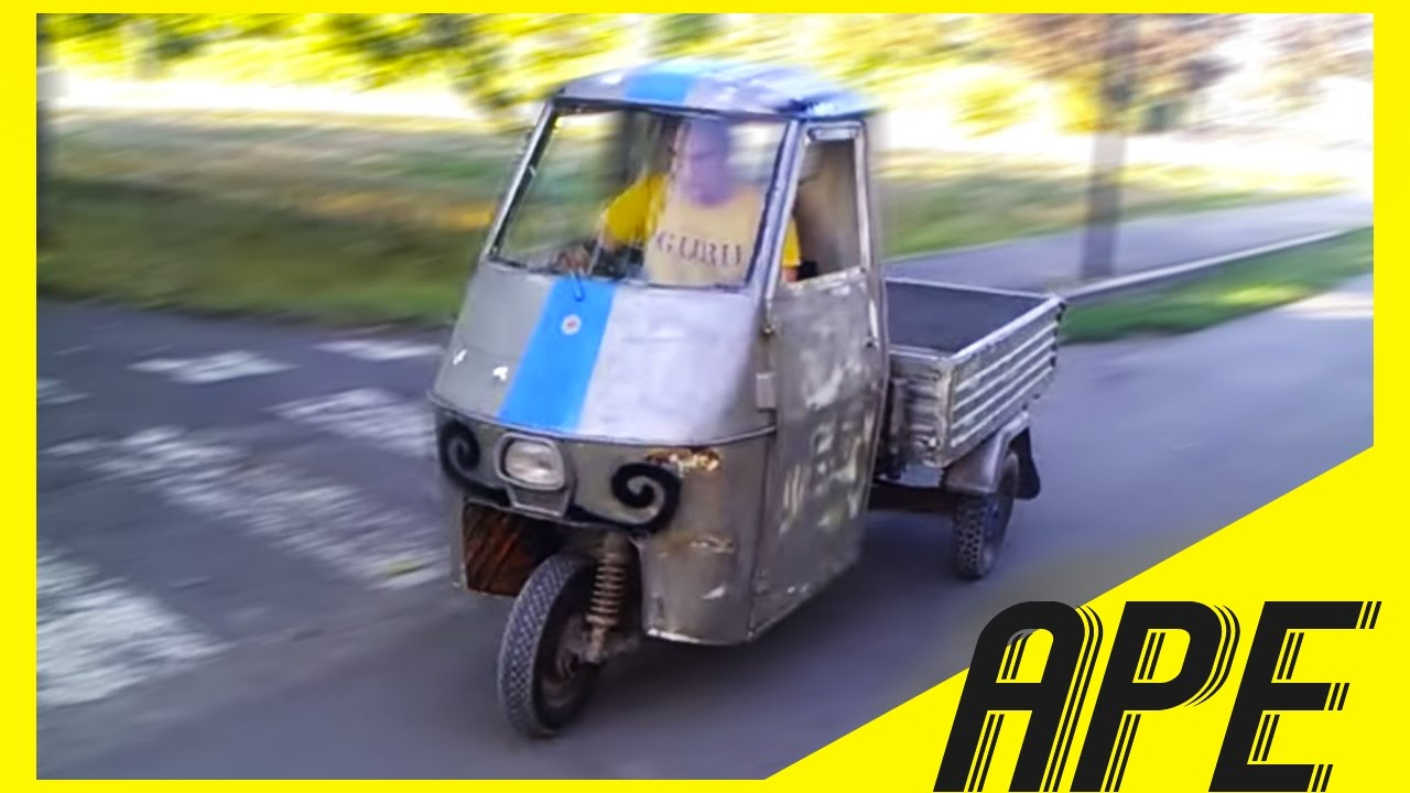 Schema Elettrico Ape 50 Monofaro : Ape car modificata in rettilineo youtube