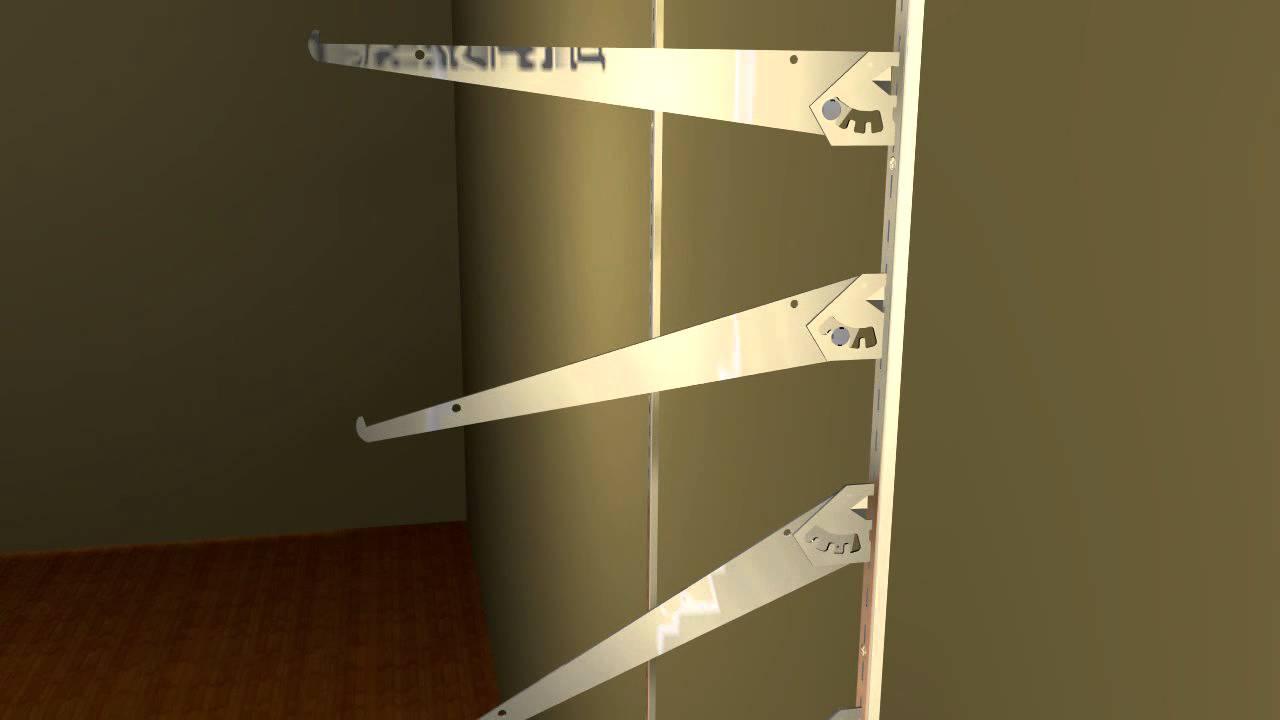 Slanted Adjustable Shelf Brackets Youtube