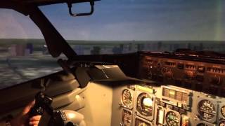 delta 737 flight simulator landing at lga