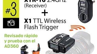 godox x1 ttl flash trigger y el xrt16 2 4ghz en el ad360 breve revisado en espaol subt