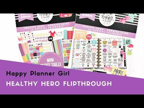 Happy Planner Girl™ Healthy Hero Sticker Flipthrough