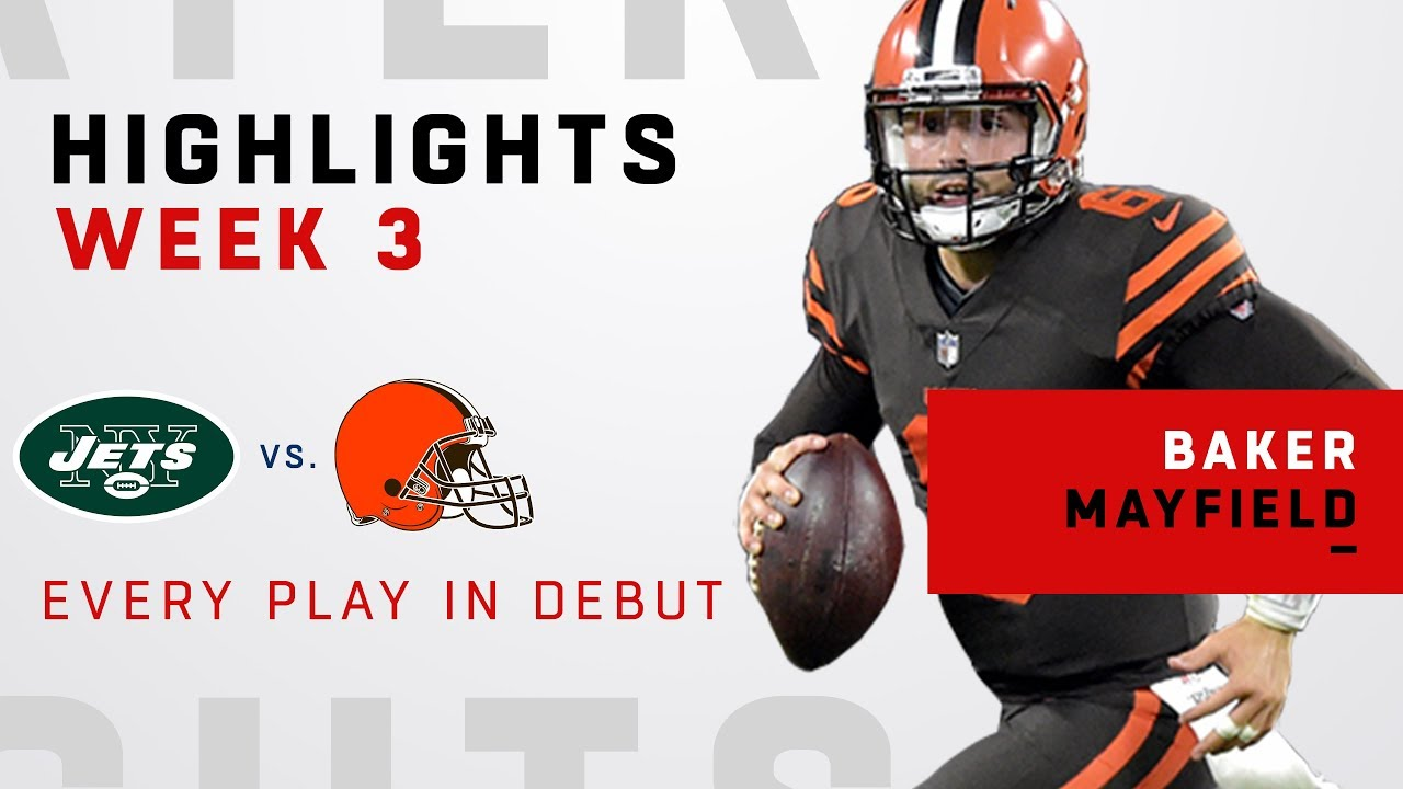 f21090b75 Every Baker Mayfield Play in NFL Debut! - YouTube