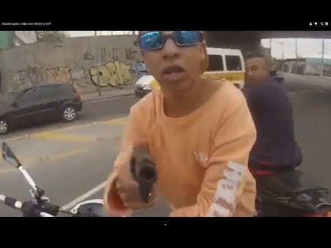 Brazilian police robber sent directly to hell!