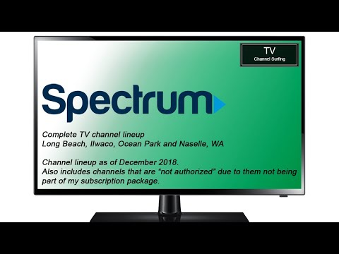 TV Channel Lineup: Charter Spectrum, Long Beach, WA (December 2018)
