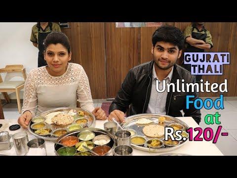 Unlimited Food at Rs.120 | Surat Gujrati Thali | Purohit Thali