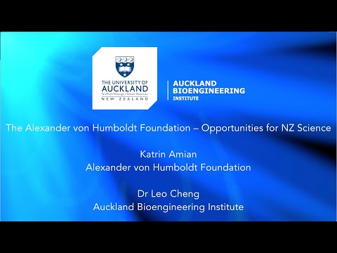 The Alexander von Humboldt Foundation – Opportunities for NZ Science