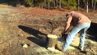 Raleigh Tree Service - Wake Forest: How To Make A Log Chair With A Chain Saw...