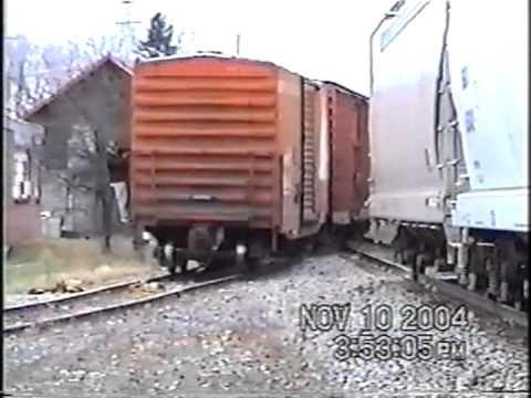 CSX B778 Switching in Lacona NY 11-10-2004