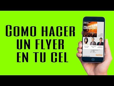 cÓmo hacer un flyer en el celular con picsart 2018 gratis