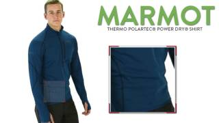 Marmot Thermo Polartec® Power Dry® Shirt - Zip Neck, Long Sleeve (For Men)