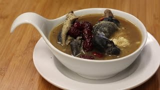 Black Chicken Soup With Durian