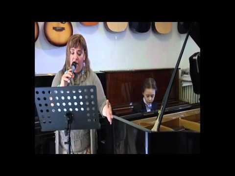 Giulio and singer Roberta Lupi  con te partiro - time to say goodye