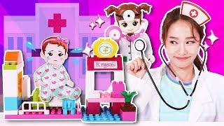 Kongkongi受傷了! Kongsuni醫院積木玩具 醫生病人遊戲-jini