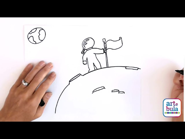 Draw an Astronaut on the Moon