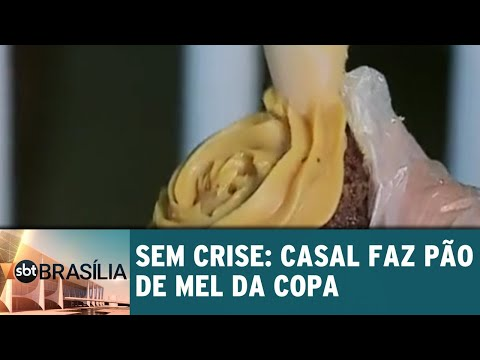Sem crise: casal faz pão de mel da copa   SBT Brasília 20/06/2018