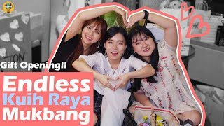Gift Opening|Endless Kuih Raya Mukbang! What we've got as presents in fan meet-up!