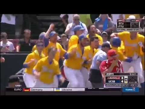 UC Santa Barbara vs Louisville Walk Off Grand Slam Radio Call