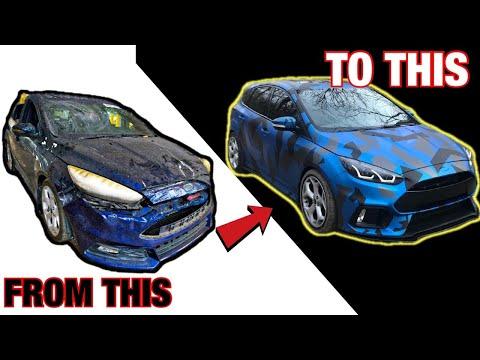 RESTORING A DESTROYED BURNT MODDED CAR IN 13 MINUTES LIKE THROTL