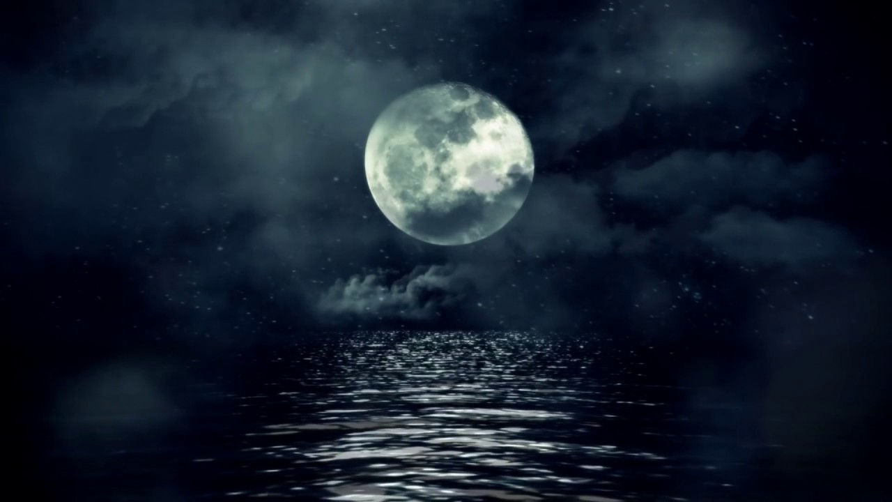 Full Moon over Cloudy Waters