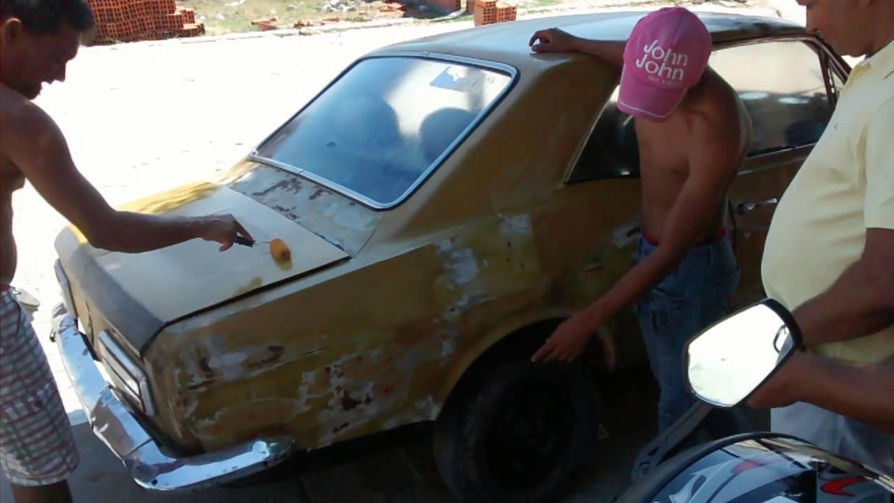 Lata velha pintura carro rolo  YouTube