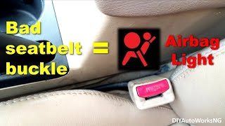 Replacement of Driver Seat Belt Buckle Honda Accord
