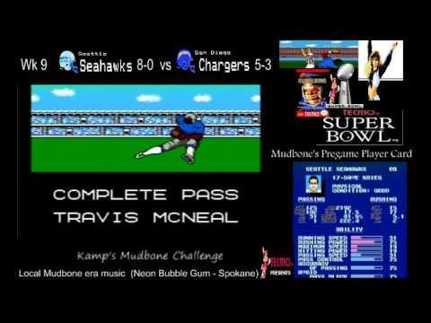 Tecmo Super Bowl Mudbone Challenge (Dave Krieg ftw) 2nd half of the season