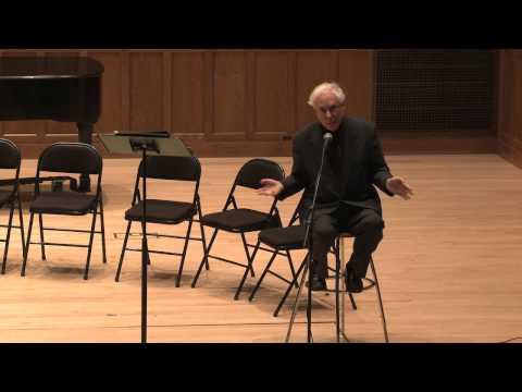 Richard Wilson's Monologue after 50 Years at Vassar