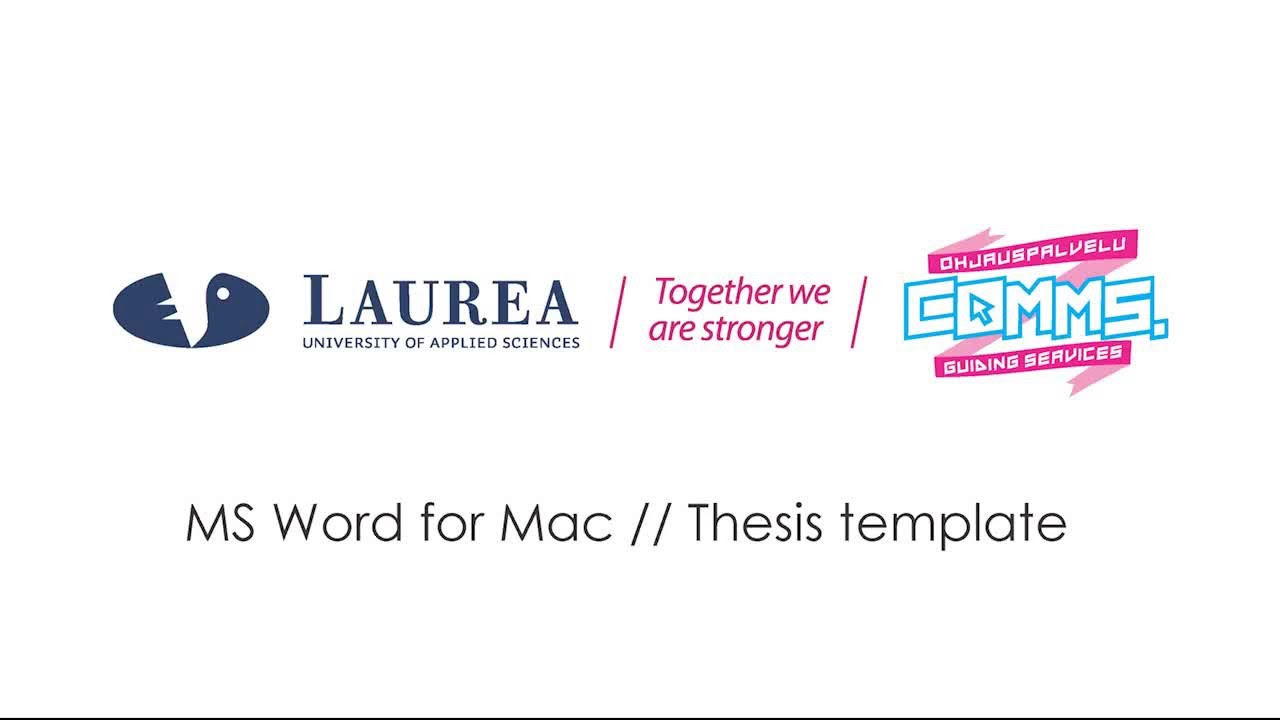 ms word for mac thesis template tutorial