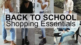 BACK TO SCHOOL SHOPPING ESSENTIALS | Clothing Haul 2017