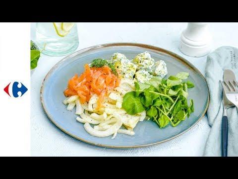 fenouil-braisé,-pommes-de-terre-à-l'aneth-et-saumon-fumé