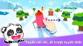 trò chơi Gấu trúc panda học thời tiết | cu lỳ chơi game baby panda learn weather