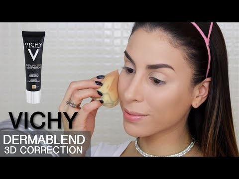 BASE VICHY DERMABLEND (3D CORRECTION): RESEÑA + DEMO ★ FOUNDATION REVIEW